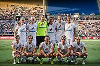 Seattle, WA - Sunday, September 24th, 2017: FC Kansas City starting eleven during a regular season National Women's Soccer League (NWSL) match between the Seattle Reign FC and FC Kansas City at Memorial Stadium.