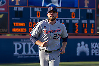 Cal State Fullerton Titans Tommy Wilson (27) after winning Game 2 of the Super Regionals against the University of Washington Huskies at Goodwin Field on June 09, 2018 in Fullerton, California. The Cal State Fullerton Titans defeated the University of Washington Huskies 5-2. (Donn Parris/Four Seam Images)