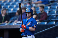 Brendan McKay (38) of the Durham Bulls waits for his turn to hit during the game against the Jacksonville Jumbo Shrimp at Durham Bulls Athletic Park on May 15, 2021 in Durham, North Carolina. (Brian Westerholt/Four Seam Images)