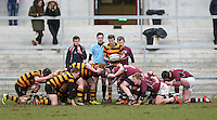 CAI vs RBAI | Tuesday 3rd March 2015<br /> <br /> John Dickson and Daniel McAllister during the 2015 Ulster Schools Cup Semi-Final between Coleraine Inst and RBAI at the Kingspan Stadium, Ravenhill Park, Belfast, Northern Ireland.<br /> <br /> Picture credit: John Dickson / DICKSONDIGITAL