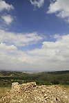 Israel, Jerusalem mountains, a view of the Coastal Plain from Bet Itab