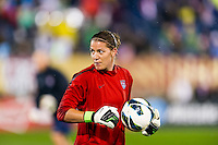 United States (USA) goalkeeper Nicole Barnhart (18) during warmups. The United States (USA) and Germany (GER) played to a 2-2 tie during an international friendly at Rentschler Field in East Hartford, CT, on October 23, 2012.