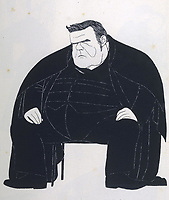 HILAIRE BELLOC  English writer / Powys Evans in Saturday Review , 88 CARTOONS no 79 / 1870-1953