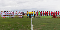 Bradenton, FL - Wednesday, June 06, 2018: Starting XI and referees during a U-17 Women's Championship match between Costa Rica and Canada at IMG Academy.