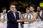 Ryuichi Kishimoto of Ryukyu Golden Kings receives the Most Valuable Player Award at the Awards Ceremony of The Asia League's The Terrific 12 tournament at Studio City Event Center on 23 September 2018, in Macau, Macau. Photo by Yu Chun Christopher Wong / Power Sport Images for Asia League