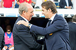 Spain's coach Julen Lopetegui and Italy's coach Giampiero Ventura during match between Spain and Italy to clasification to World Cup 2018 at Santiago Bernabeu Stadium in Madrid, Spain September 02, 2017. (ALTERPHOTOS/Borja B.Hojas)