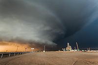 Mothership Supercell Thunderstorm next to an Industrial Plant in Leoti, KS, May 21, 2016,