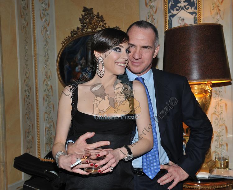 SERGIO DOMPE' E ALBERTINA CARRARO<br /> FESTA DEGLI 80 ANNI DI MARTA MARZOTTO<br /> CASA CARRARO ROMA 2011