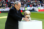 Real Madrid's legend Paco Gento during La Liga match. January 7,2016. (ALTERPHOTOS/Acero)