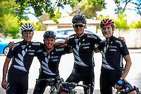 The NZ national team; from left, Hamish Schrers, Nick Kergozou, Michael Vink and Brad Evans. UCI Oceania Tour - NZ Cycle Classic stage two - Masterton to Martinborough circuit in Wairarapa, New Zealand on Thursday, 21 January 2016. Photo: Dave Lintott / lintottphoto.co.nz