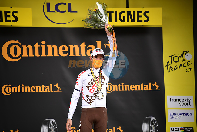 Ben O'Connor (AUS) AG2R Citroën Team wins Stage 9 of the 2021 Tour de France, running 150.8km from Cluses to Tignes, France. 4th July 2021.  <br /> Picture: A.S.O./Pauline Ballet | Cyclefile<br /> <br /> All photos usage must carry mandatory copyright credit (© Cyclefile | A.S.O./Pauline Ballet)