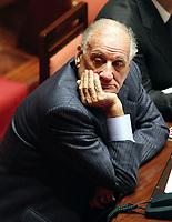 Roma 21-02-2007 Senato: Dichiarazioni del Ministro degli Estreri e Vice Premier sulla Politica Estera del Governo<br /> Nella foto Alfredo Biondi FI<br /> Photo Serena Cremaschi Insidefoto