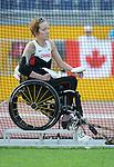 Becky Richter, Toronto 2015 - Para Athletics // Para-athlétisme.<br /> Becky Richter competes in the Women's Discus Throw F51/52 // Becky Richter participe au lancer du disque féminin F51 / 52. 11/08/2015.