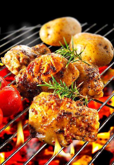 Bbq Chicken cooking