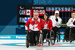 Pyeongchang, Korea, 15/3/2018-Ina Forrest Dennis Thiessen compete in the  wheelchair curling during the 2018 Paralympic Games in PyeongChang.  Photo Scott Grant/Canadian Paralympic Committee.