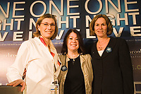 Singer-songwriter Jann Arden (middle) joins Dr. Jennifer Blake, Chief of Obstetrics and Gynaecology, Sunnybrook Health Sciences Centre (left) and Jennifer Tory, Chair of the Board of Sunnybrook Foundation (right) to announce One Night Live(TM) taking place on February 28, 2008. The fundraising concert featuring Bryan Adams, Josh Groban, Sarah McLachlan and Jann Arden will benefit Sunnybrook's Women & Babies Program. For more information, visit www.onenightlive.ca. (CNW Group/Sunnybrook Foundation)