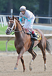 17 July 10: Life At Ten and jockey John Velasquez lead the way after winning the Delaware Handicap at Delaware Park on Delaware Handicap Day