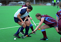 Action from the 2020 Lower North Island Girls Hockey Championship match between Kuranui College and Te Kura Kaupapa Maori o Ruamata at National Hockey Stadium in Wellington, New Zealand on Tuesday, 1 September 2020. Photo: Dave Lintott / lintottphoto.co.nz
