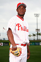 February 24, 2010:  Pitcher Yohan Flande (65) of the Philadelphia Phillies poses during photo day at Bright House Field in Clearwater, FL.  Photo By Mike Janes/Four Seam Images