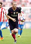 FC Barcelona's Jeremy Mathieu during La Liga match. September 24,2016. (ALTERPHOTOS/Acero)