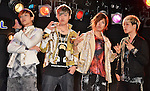 MIB, Jun 24, 2013 : MIB, Tokyo, Japan, June 24, 2013 : Korean Hip hop quartet MIB pose for camera during their showcase in Tokyo, Japan, on June 24, 2013.