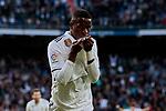 Real Madrid's Vinicius Jr. celebrates goal during La Liga match between Real Madrid and Real Valladolid at Santiago Bernabeu Stadium in Madrid, Spain. November 03, 2018. (ALTERPHOTOS/A. Perez Meca)
