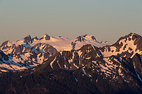 Morning light on Mount Olympus, Olympic National Park, WA,  Summer.