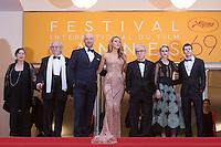 Director of photography Vittorio Storaro, actors Corey Stoll, Blake Lively, Director Woody Allen, actors Kristen Stewart and Jesse Eisenberg - 69EME FESTIVAL DE CANNES 2016 - OUVERTURE DU FESTIVAL AVEC 'CAFE SOCIETY'