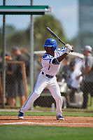 Khalid Collymore during the WWBA World Championship at the Roger Dean Complex on October 18, 2018 in Jupiter, Florida.  Khalid Collymore is a shortstop from Mississauga, Ontario who attends Port Credit High School.  (Mike Janes/Four Seam Images)