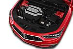 Car Stock 2018 Acura RLX - 4 Door Sedan Engine  high angle detail view
