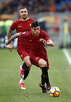 Calcio, Serie A: AS Roma - Sassuolo, Roma, stadio Olimpico, 30 dicembre 2017.<br /> Roma's Diego Perotti in action during the Italian Serie A football match between AS Roma and Sassuolo at Rome's Olympic stadium, 30 December 2017.<br /> UPDATE IMAGES PRESS/Isabella Bonotto