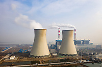 The Beijiang power station, near Tianjin, has been identified as high risk to being situated on low-lying land making it prone to flooding due to its proximity to the coast. Hebei, China. 2019
