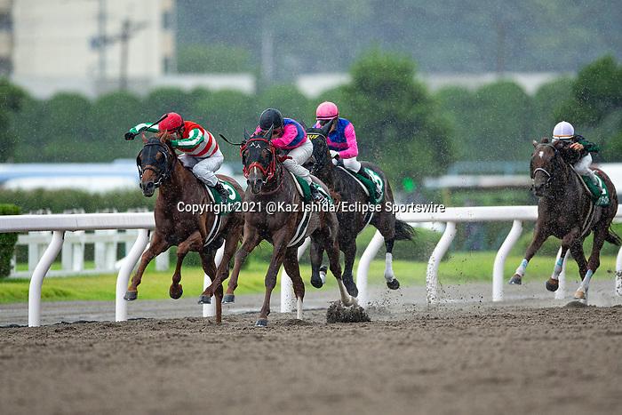 KITAKYUSHU,JAPAN-JUL 11: Meisho Kazusa,ridden by Kohei Matsuyama,wins the Procyon Stakes at Kokura Racecourse on July 11,2021 in Kitakyushu,Fukuoka,Japan. Kaz Ishida/Eclipse Sportswire/CSM
