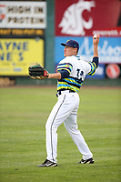 Aaron Stroosma (32) of the Everett AquaSox throws before a game against the Boise Hawks at Everett Memorial Stadium on July 21, 2017 in Everett, Washington. Boise defeated Everett, 10-4. (Larry Goren/Four Seam Images)