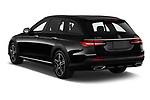 Car pictures of rear three quarter view of 2021 Mercedes Benz E-Class-Wagon E450-All-Terrain 5 Door Wagon Angular Rear