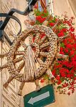 Oesterreich, Niederoesterreich, Kulturlandschaft Wachau - UNESCO Weltkultur- und Naturerbe, Weissenkirchen in der Wachau: Weinort am linken Donauufer - Heurige- und Buschenschank-Zeichen | Austria, Lower Austria, Wachau Cultural Landscape - UNESCO World's Cultural and Natural Heritage, Weissenkirchen in der Wachau: wine village on the left bank of the Danube - Heuriger sign