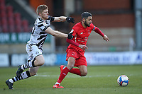Jobi McAnuff of Leyton Orient and Elliott Whitehouse of Forest Green Rovers during Leyton Orient vs Forest Green Rovers, Sky Bet EFL League 2 Football at The Breyer Group Stadium on 23rd January 2021