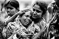 Relative of  a missing victim of Savar tragedy mourns for her daughter as she takes part in a sit-in and deliver tribute to the unidentified victims of Savar tragedy at Jurain Graveyard in the capital  Dhaka, Bangladesh