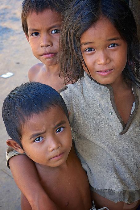 Children at Wat Phnom Krom Pagoda and Monastery near the Tonle Sap, Cambodia