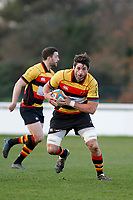 Jake Parker of Richmond Rugby in action during the English National League match between Richmond and Blackheath  at Richmond Athletic Ground, Richmond, United Kingdom on 4 January 2020. Photo by Carlton Myrie.