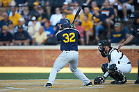 Ivan Gonzalez (32) of the West Virginia Mountaineers at bat against the Wake Forest Demon Deacons in Game Four of the Winston-Salem Regional in the 2017 College World Series at David F. Couch Ballpark on June 3, 2017 in Winston-Salem, North Carolina. The Demon Deacons walked-off the Mountaineers 4-3. (Brian Westerholt/Four Seam Images)