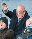 Raith's new Chairman, Turnbull Hutton, watches from the stand  ...