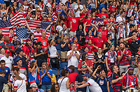 PARIS,  - JUNE 28: Fans cheer during a game between France and USWNT at Parc des Princes on June 28, 2019 in Paris, France.