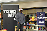 Houston Texans Ambassador KD Kalu gives the Worthing HS football team advice about getting a good education.