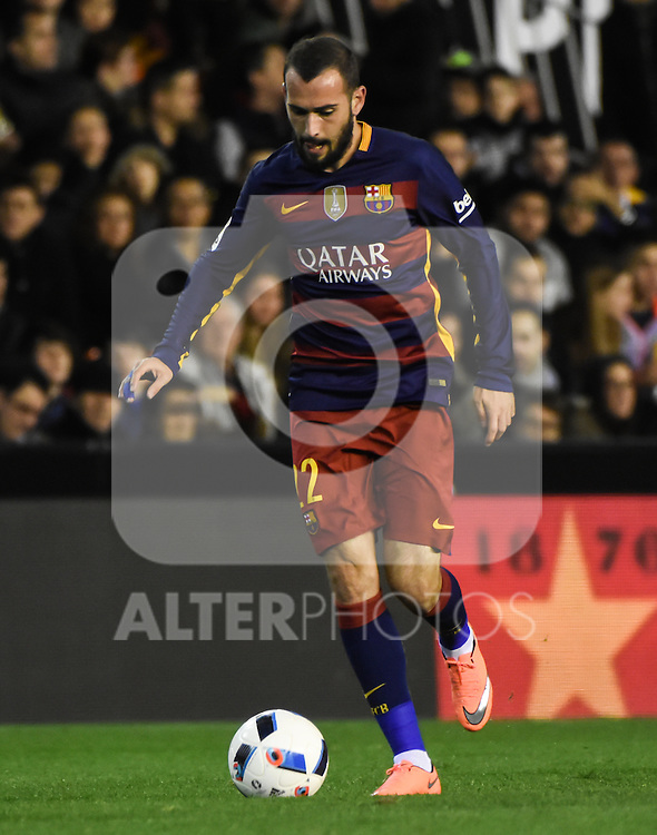 FC Barcelona's  Aleix Vidal during Spanish King's Cup match. February 10, 2016. (ALTERPHOTOS/Javier Comos)