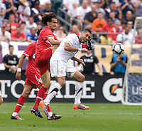 Clint Dempsey, Mehmet Topal. The USMNT defeated Turkey, 2-1, at Lincoln Financial Field in Philadelphia, PA.