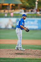 Kyle Regnault (25) of the Las Vegas 51s looks to the plate against the Salt Lake Bees at Smith's Ballpark on May 7, 2018 in Salt Lake City, Utah. The 51s defeated the Bees 10-8. (Stephen Smith/Four Seam Images)