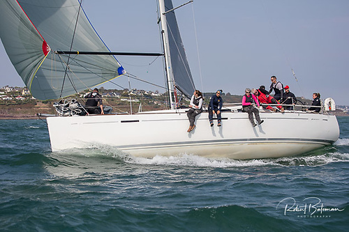 Murphy sisters Molly and Mia are the drivers on the Grand Soleil Nieulargo in the 2021 Dun Laoghaire to Dingle Race Photo: Bob Bateman