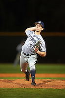 Georgetown Hoyas relief pitcher Casey Goldenberg (37) delivers a pitch during a game against the Chicago State Cougars on March 3, 2017 at North Charlotte Regional Park in Port Charlotte, Florida.  Georgetown defeated Chicago State 11-0.  (Mike Janes/Four Seam Images)