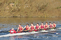 153 SEN.8+ Oxford Brookes Univ B..Reading University Boat Club Head of the River 2012. Eights only. 4.6Km downstream on the Thames form Dreadnaught Reach and Pipers Island, Reading. Saturday 25 February 2012.